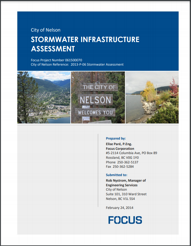 CITY OF NELSON STORMWATER MANAGEMENT SYSTEM