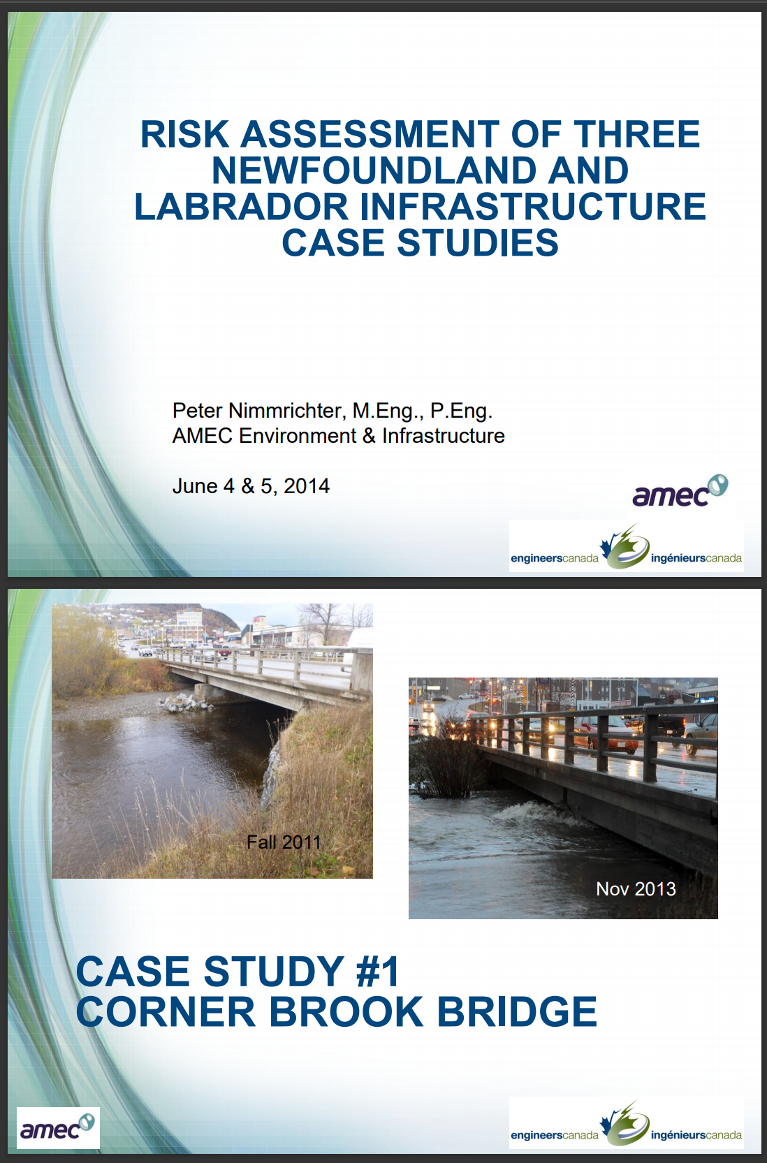 THREE NEWFOUNDLAND AND LABRADOR INFRASTRUCTURE CASE STUDIES