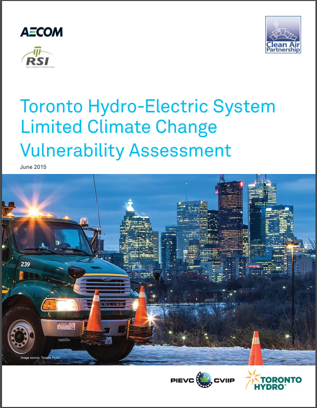 Toronto Hydro-Electric System Limited Climate Change Vulnerability Assessment