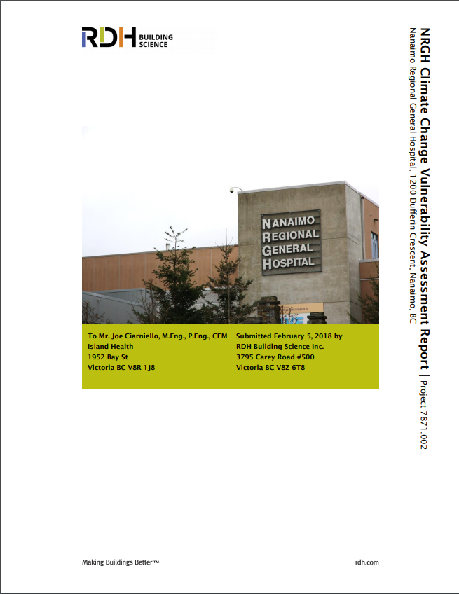 Climate Change Vulnerability Assessment for Nanaimo Regional General Hospital (NRGH)