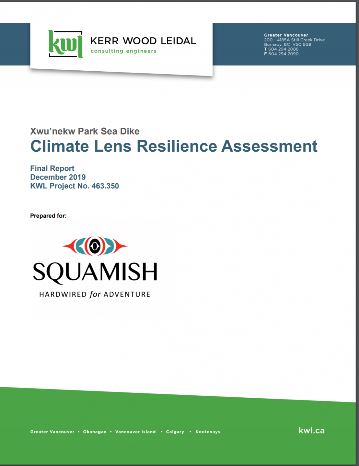 Xwu'nekw Park Sea Dike Climate Lens Resilience Assessment