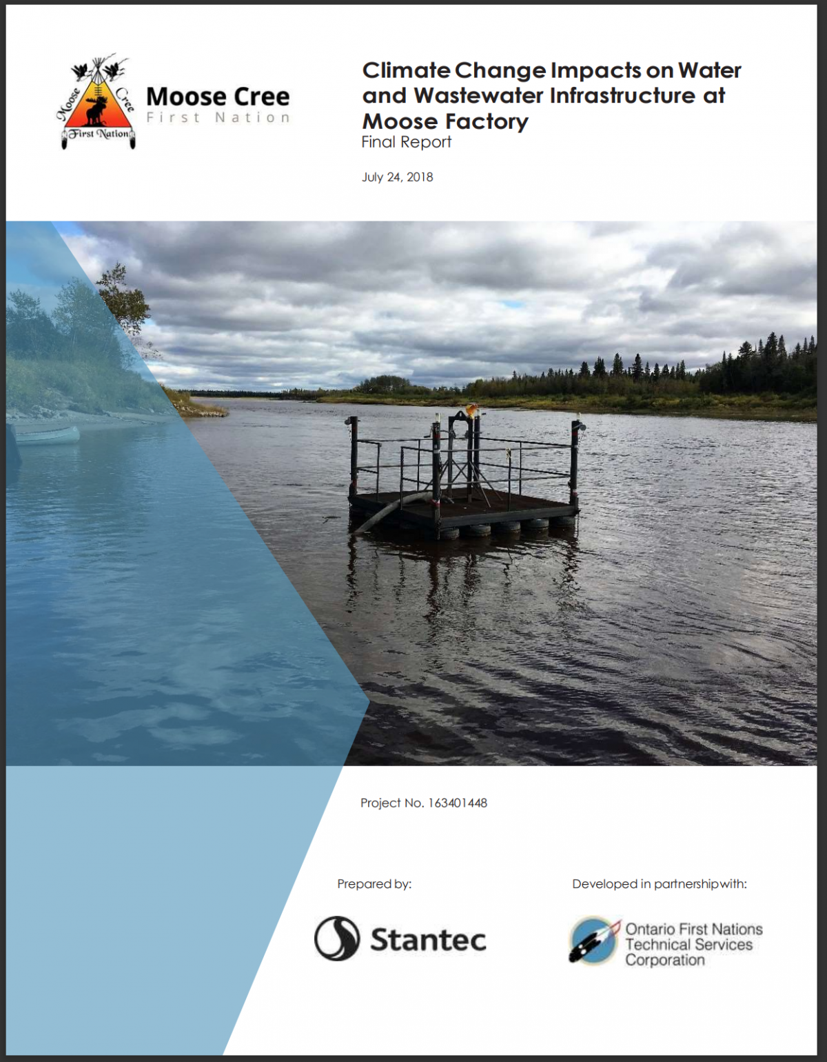 CLIMATE CHANGE IMPACTS ON WATER AND WASTEWATER INFRASTRUCTURE AT MOOSE FACTORY