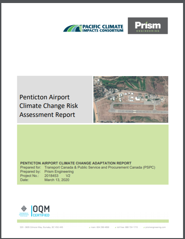 Penticton Airport Climate Change Risk Assessment Report