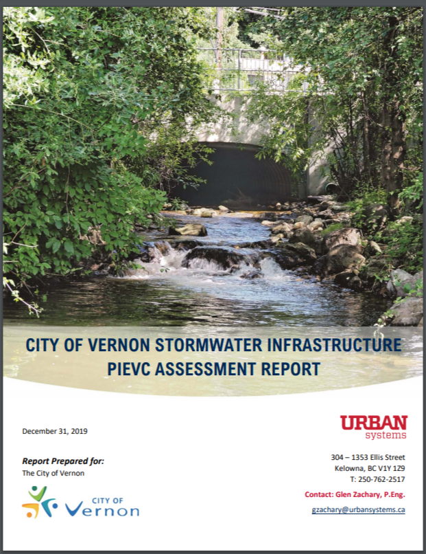 CITY OF VERNON STORMWATER INFRASTRUCTURE PIEVC ASSESSMENT REPORT