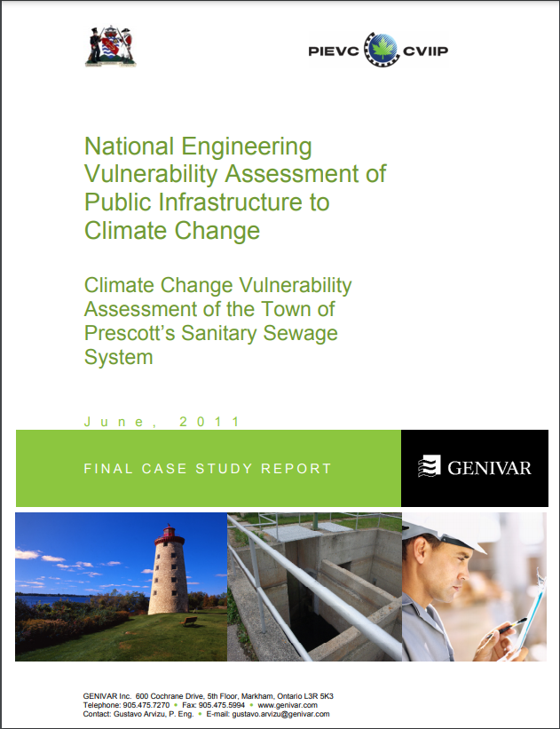 Climate Change Vulnerability Assessment of the Town of Prescott's Sanitary Sewage System