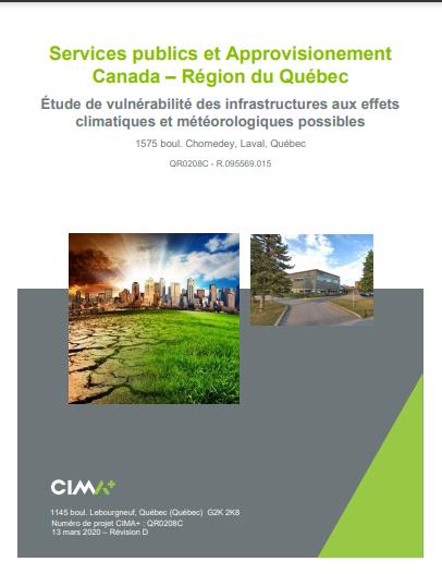 Étude de vulnérabilité des infrastructures aux effets climatiques et météorologiques possibles –  Laval
