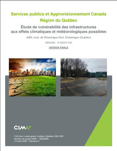 Étude de vulnérabilité des infrastructures aux effets climatiques et météorologiques possibles – Shawinigan